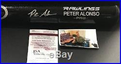 Pete Alonso New York Mets Signed Engraved Bat JSA WITNESS COA Black A Peter