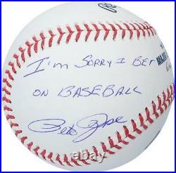 Pete Rose Cincinatti Reds Signed Baseball & I'm Sorry I Bet on Baseball Insc
