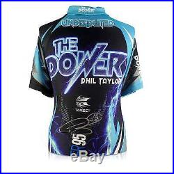 Phil The Power Taylor Signed 2017 Darts Shirt Autographed Memorabilia Framed