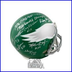 Philadelphia Eagles Autographed 1960 World Champs Full-Size Football Helmet JSA