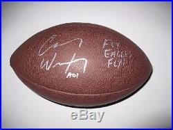 Philadelphia Eagles Carson Wentz Autographed Signed Full Size football COA