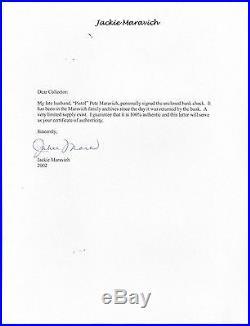 Pistol Pete Maravich Psa/dna Handwritten Signed Check Autographed #81997484