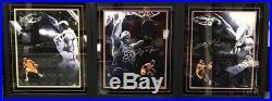 RARE SET Lebron James Michael Jordan Kobe Bryant LE 50 Signed Auto Framed UDA UD
