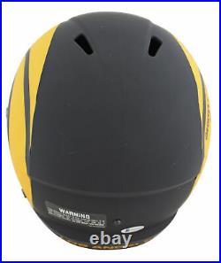 Rams Kurt Warner & Marshall Faulk Signed Eclipse Full Size Speed Rep Helmet BAS