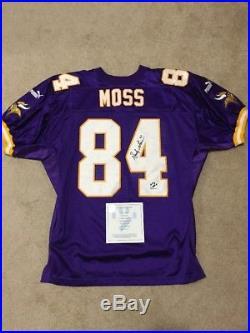 Randy Moss Signed Authentic Minnesota Vikings Puma Jersey