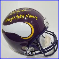 Randy Moss Signed Autographed Vikings FS Replica Helmet withStraight Cash PSA/DNA