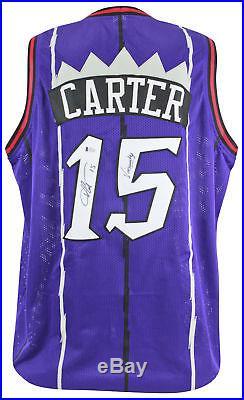 Raptors Vince Carter Vinsanity Authentic Signed Purple Jersey BAS Witnessed