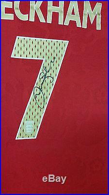 Rare DAVID BECKHAM of England Signed Shirt Display AFTAL DEALER APPROVED