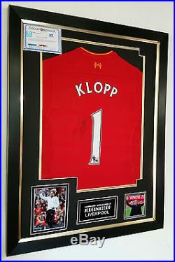 Rare Jurgen KLOPP of Liverpool Signed Shirt Display AFTAL DEALER COA