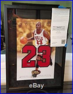 Rare Michael Jordan Signed Autographed UDA Certified Framed Pic Jersey Number 2