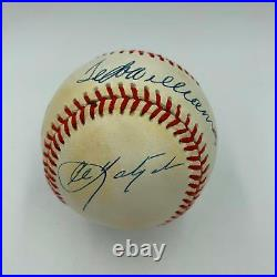 Rare Mickey Mantle 1956 Ted Williams Triple Crown Signed Inscribed Baseball JSA