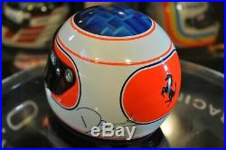Rare Rubens Barrichello 2001 Ferrari 1/2 scale Helmet Casque Helm Signed