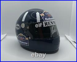 Rare SIGNED Exclusive Damon Hill 1994 1/2 helmet with Rothmans conversion