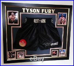 Rare Tyson Fury SIGNED SHORTS TRUNKS Autograph Display