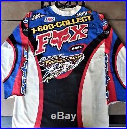 Rare Vintage 1997 Signed Jeremy Mcgrath Fox Suzuki Of Troy Ama Motocross Jersey