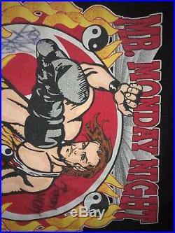 Rare Vintage NEW Original ECW Wrestling ROB VAN DAM Shirt SIGNED Wwf Wcw RVD