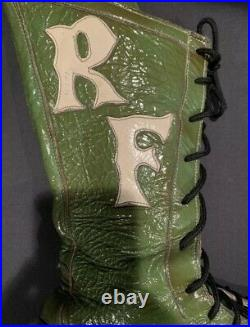Ric Flair 80s Ring Worn Used Boot with Signed Flair COA WWF NWA WCW Mid-Atlantic