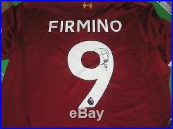 Roberto Firmino Signed Liverpool FC 2017/18 Season Home Shirt Name & Number