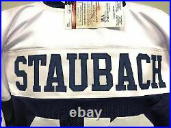 Roger Staubach Dallas Signed Autograph Throwback Custom Jersey JSA Witnessed Cer