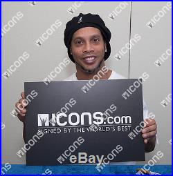 Ronaldinho Back Signed Brazil 2002 Home Shirt Autograph Jersey