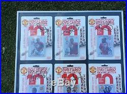 Ronaldo Giggs Scholes Rooney Signed Cards Man Utd Framed Autograph Memorabilia