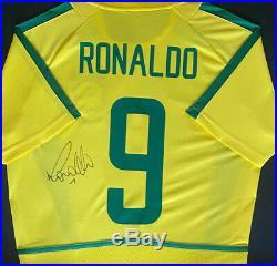 Ronaldo Signed & Framed Jersey Brazil LEGEND AFTAL COA (WOF)