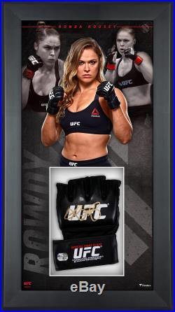 Ronda Rousey UFC Framed Signed Fight Model Glove Shadowbox