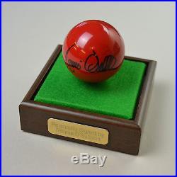 Ronnie O'Sullivan Signed Snooker Ball Autograph Display Case Memorabilia COA