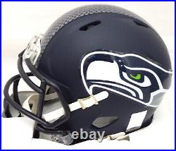 Russell Wilson Autographed Signed Seahawks Speed Mini Helmet In Green Rw 179111