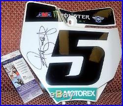 Ryan Dungey #5 Signed Front Number Plate KTM JSA COA Supercross