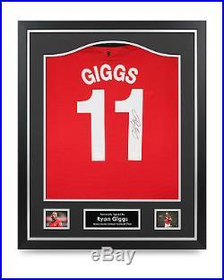 Ryan Giggs Signed Shirt Framed Man Utd Autograph #11 Jersey Memorabilia COA