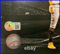 SD Padres Fernando Tatis Jr. Signed 11x14 Photo Bat Flip Beckett BAS Witnessed