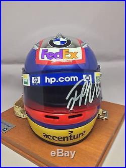 SIGNED 2002 Juan Pablo Montoya 12 Half Mini Helmet Williams FW23 F1 Arai COA