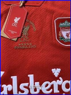 SIGNED STEVEN GERRARD LIVERPOOL CHAMPIONS League 2005 WinnerNo 8 Shirt COA £145