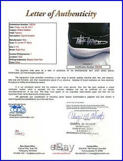 SPACE JAM Tinker Hatfield Signed Nike Jordan XI 9.5 Shoes EXACT Proof JSA COA