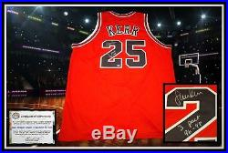 STEVE KERR autographed signed CHICAGO BULLS red jersey coa with 3 Peat 96-98