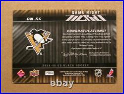 Scarce 2009-10 Ud Black Sidney Crosby Auto Signed Card 35/35 Penguins Rare