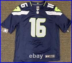 Seahawks Tyler Lockett Autographed Signed Blue Nike Jersey L Mcs Holo 159142