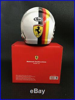 Sebastian Vettel SIGNED Ferrari 2018 1/2 half-scale helmet. Formula 1, COA