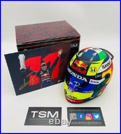 Sergio Checo Perez signed F1 1/2 Scale Helmet 2021 Red Bull Racing F1