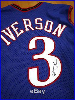 Signed 1999-00 Champion 76ers Allen Iverson Game Worn Jersey Used Sixers
