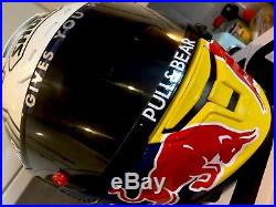 Signed 2017 Marc Marquez Shoei X-spirit 3 Hand Painted Helmet. Stunning