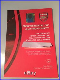 Signed Arsenal Shirt 16/17 With COA Won In comp