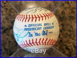 Signed Auto Baseball Mickey Mantle, Joe DiMaggio, Mays, Musial, Rose, Banks JSA