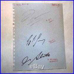 Signed Ayrton Senna 1994 Pacific GP Signature Autograph F1 Lehto, Alboreto