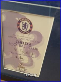 Signed Chelsea CFC Framed Football Shirt Champions League Winners 2012