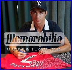 Signed Cristiano Ronaldo Framed Manchester United Shirt