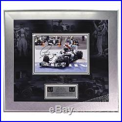 Signed Lewis Hamilton Mercedes F1 Framed Photo Deluxe Display