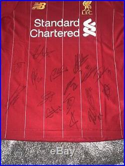 Signed Liverpool Home Squad Shirt 19/20 LFC Champions LFC COA Rare