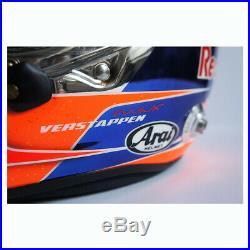 Signed Max Verstappen 2016 Belgian GP Promo Helmet Arai GP-6S Red Bull F1